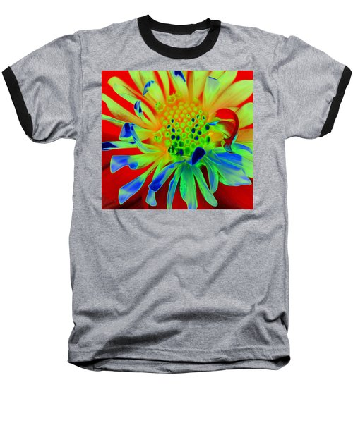 Bright Flower Baseball T-Shirt