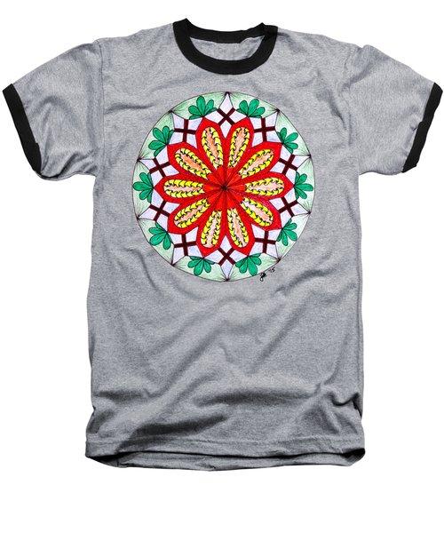 Bright Flower Baseball T-Shirt by Lori Kingston