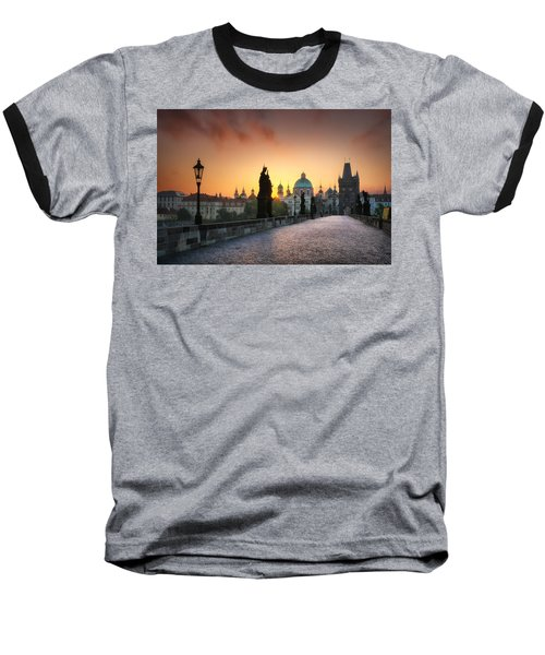 Bright Morning In Prague, Czech Republic Baseball T-Shirt