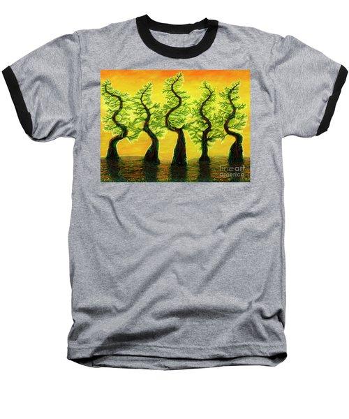 Bright Moss Hidden Bunnies Baseball T-Shirt
