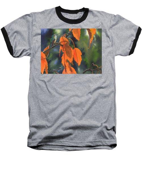 Bright Orange Leaves Baseball T-Shirt
