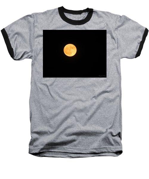 Bright Orange Moon Baseball T-Shirt