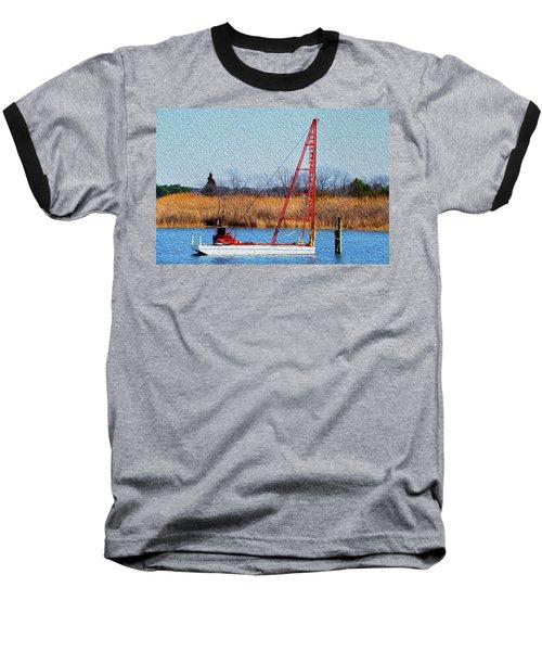 Bright Paintery Barge Baseball T-Shirt