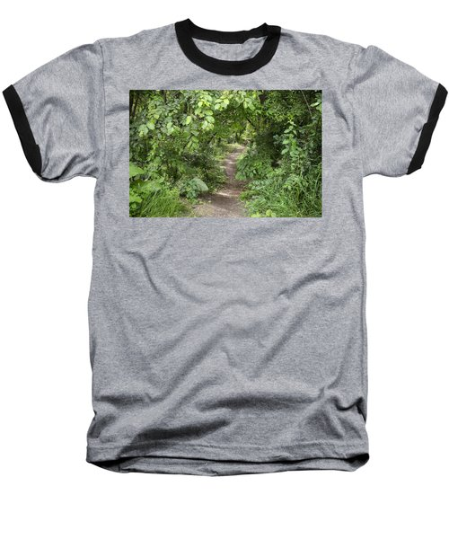 Bright Path In Leafy Forest Baseball T-Shirt