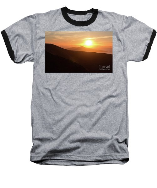 Bright Sun Rising Over The Mountains Baseball T-Shirt