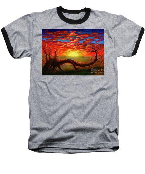 Bright Sunset Baseball T-Shirt