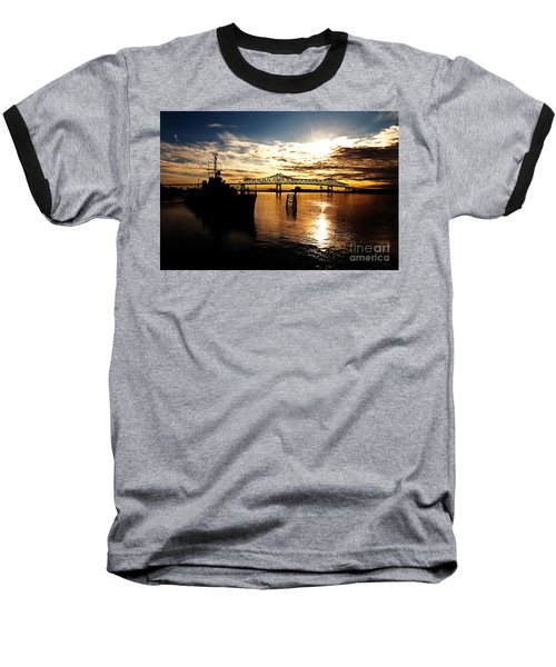 Bright Time On The River Baseball T-Shirt