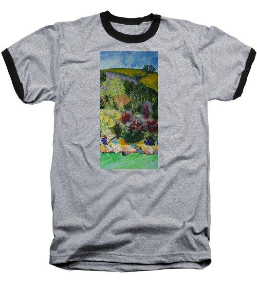 Brightly Colored Devon Landscape - Dartmouth England Baseball T-Shirt