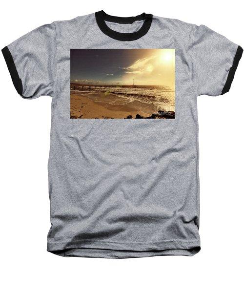 Brighton Beach Pier Baseball T-Shirt by Douglas Barnard