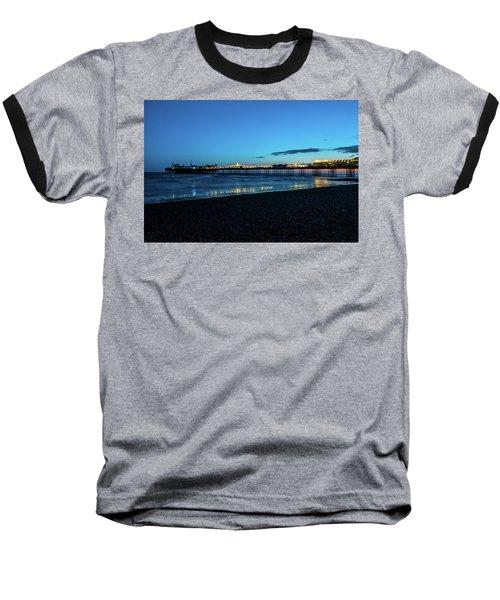Brighton Pier At Sunset Ix Baseball T-Shirt