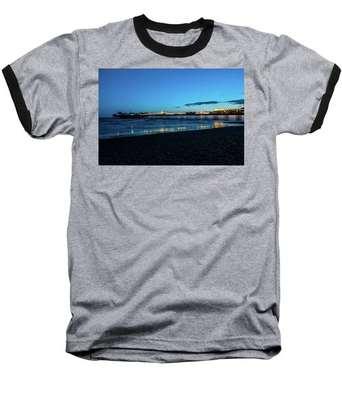 Brighton Pier At Sunset Ix Baseball T-Shirt