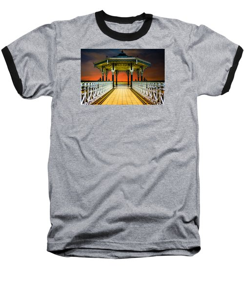 Baseball T-Shirt featuring the photograph Brighton's Promenade Bandstand by Chris Lord