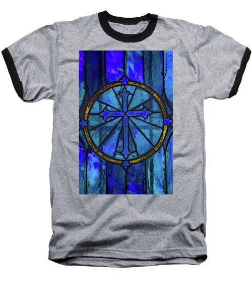 Brillant Blue Baseball T-Shirt by Rowana Ray