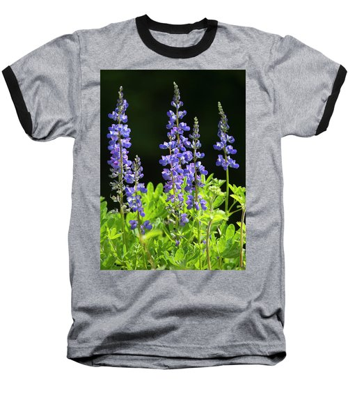 Baseball T-Shirt featuring the photograph Brilliant Lupines by Elvira Butler