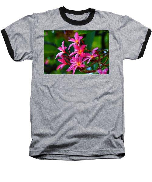 Brilliant Plumeria Baseball T-Shirt