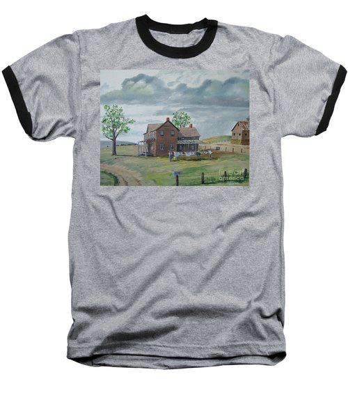 Bringing In The Clothes Baseball T-Shirt by Norm Starks