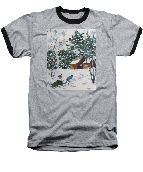 Bringing In The Tree Baseball T-Shirt by David Gilmore