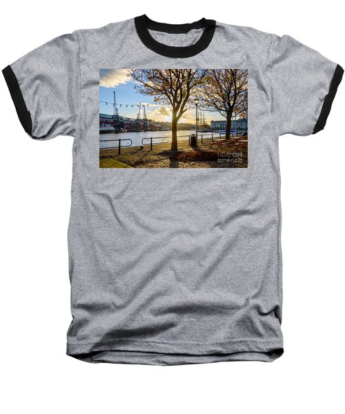 Baseball T-Shirt featuring the photograph Bristol Harbour by Colin Rayner