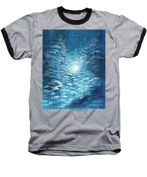 Baseball T-Shirt featuring the painting Brite Nite by Holly Carmichael