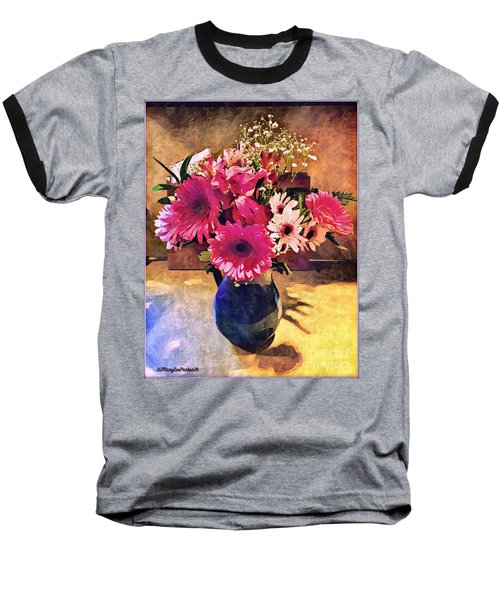 Brithday Wish Bouquet Baseball T-Shirt by MaryLee Parker
