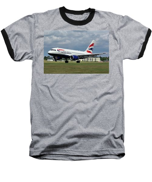 British Airways A318-112 G-eunb Baseball T-Shirt by Tim Beach