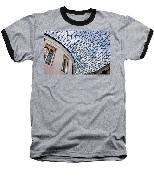 British Museum Baseball T-Shirt by James David Phenicie