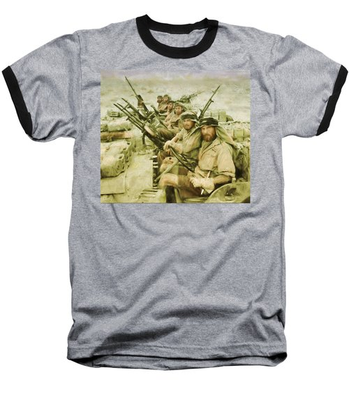 Baseball T-Shirt featuring the painting British Sas by Michael Cleere