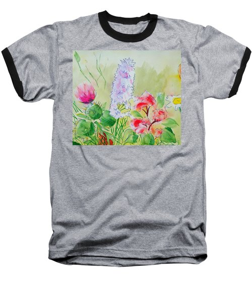 British Wild Flowers Baseball T-Shirt