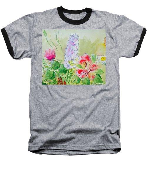 British Wild Flowers Baseball T-Shirt