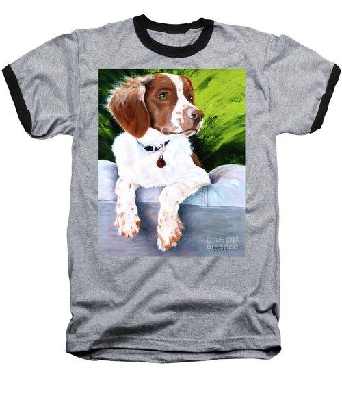 Brittany Spaniel Baseball T-Shirt