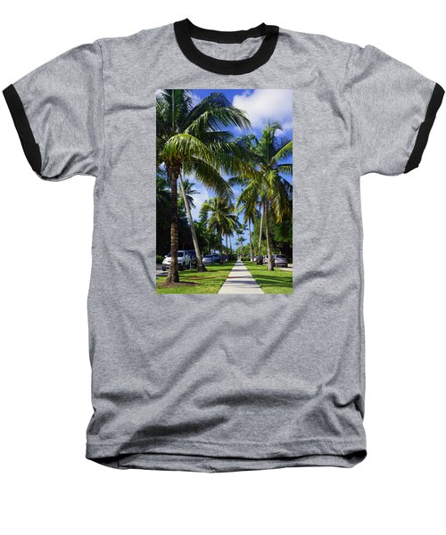 Baseball T-Shirt featuring the photograph Broad Avenue South, Old Naples by Robb Stan