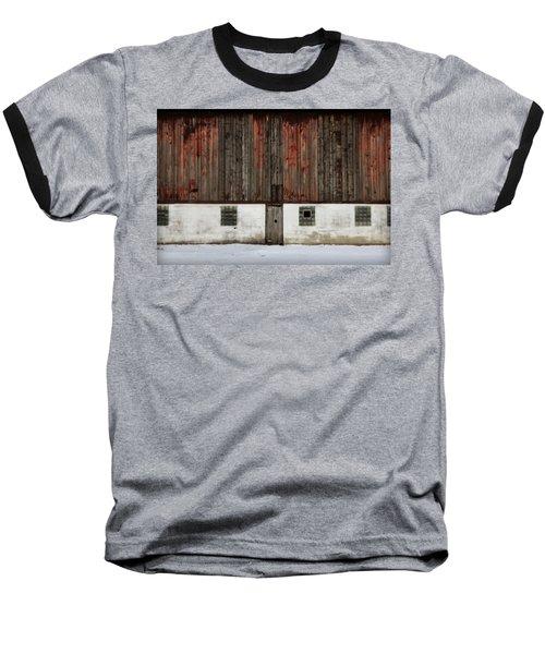 Broad Side Of A Barn Baseball T-Shirt by Julie Hamilton
