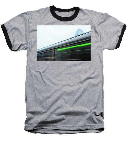 Broadway Bridge Abstract 2 Chromatic Baseball T-Shirt