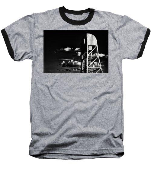 Broadway Bridge Abstract 5 Monochrome Baseball T-Shirt