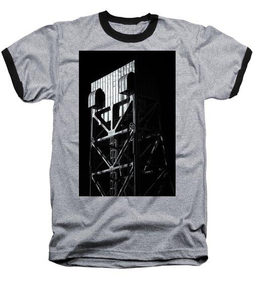 Broadway Bridge South Tower Detail 3 Monochrome Baseball T-Shirt