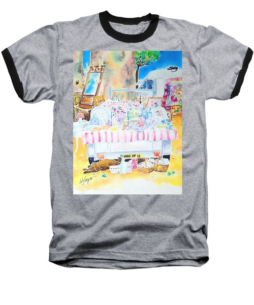 Baseball T-Shirt featuring the painting Brocante by Hisayo Ohta