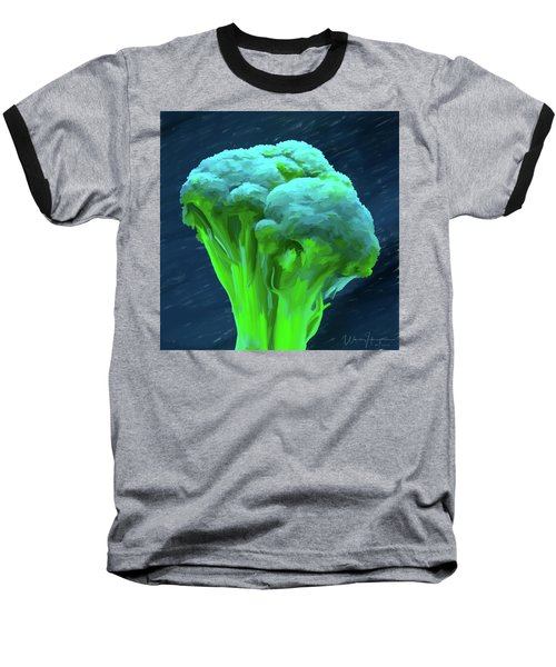 Broccoli 01 Baseball T-Shirt by Wally Hampton