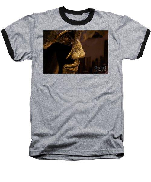 Broken Face Baseball T-Shirt