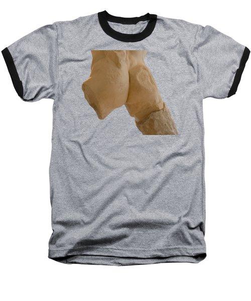 Broken Naked Greek Male Statue From Back Baseball T-Shirt