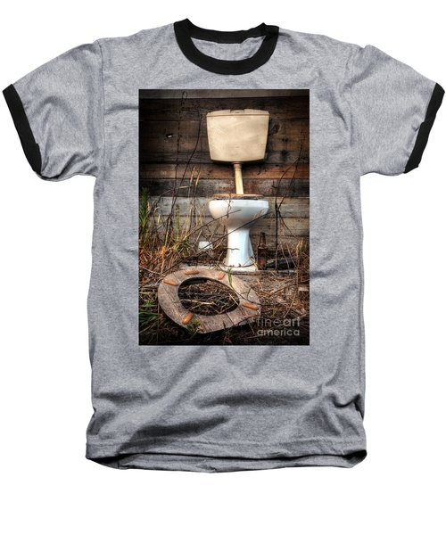 Broken Toilet Baseball T-Shirt by Carlos Caetano