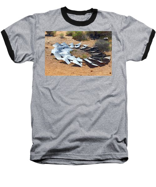 Broken Wheel Of Fortune Baseball T-Shirt by Viktor Savchenko