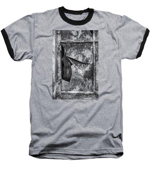 Baseball T-Shirt featuring the photograph Broken Window by Tom Singleton