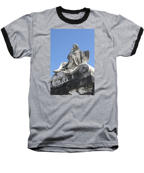 Broken Wing Baseball T-Shirt by Tbone Oliver