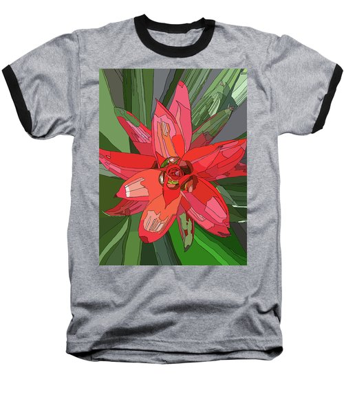 Bromiliad Baseball T-Shirt by Jamie Downs
