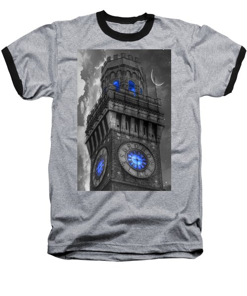 Bromo Seltzer Tower Baltimore - Blue  Baseball T-Shirt