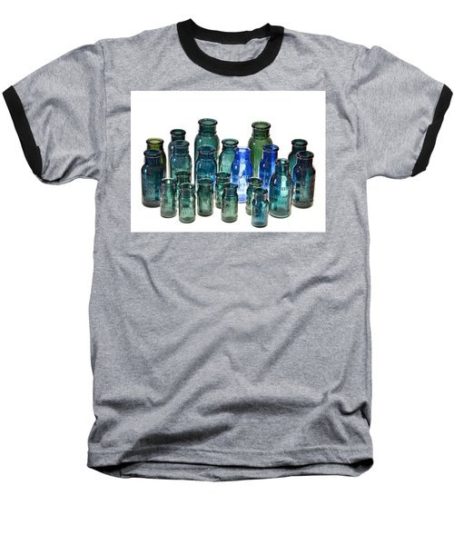 Bromo Seltzer Vintage Glass Bottles Collection Baseball T-Shirt