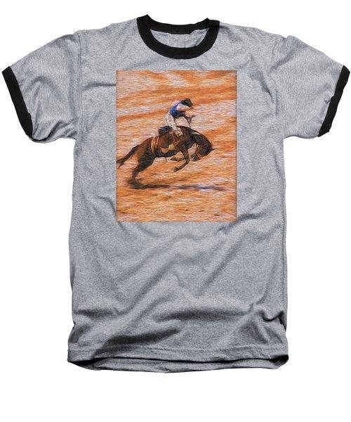 Baseball T-Shirt featuring the photograph Bronc Rider by John Freidenberg