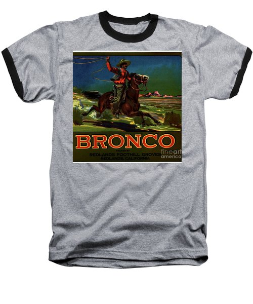 Bronco Redlands California Baseball T-Shirt by Peter Gumaer Ogden