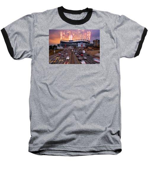Broncos Win Afc Championship Game 2016 Baseball T-Shirt by Darren White