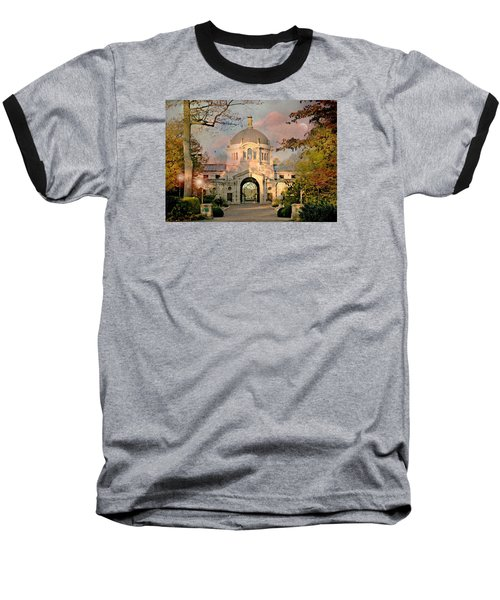 Bronx Zoo Entrance Baseball T-Shirt by Diana Angstadt